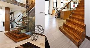 Zebrano Staircase In New Construction Home Railings And