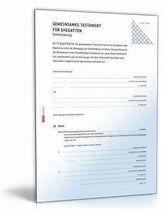 Vorsorgevollmacht Ohne Notar Gültig : gemeinsames testament f r ehegatten einheitsl sung ~ Orissabook.com Haus und Dekorationen