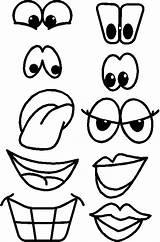 Mouth Printable Nose Eyes Templates Template Open Teeth Snowman Printablee Via sketch template