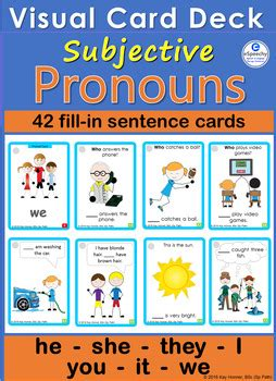 pronouns  cards  visuals  espeechy teachers pay