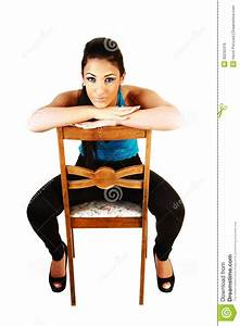 Girl Sitting On Chair. Royalty Free Stock Image - Image ...