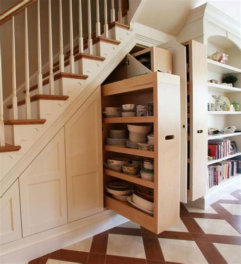 For a cohesive look, paint the furniture pieces the same color. 8 Ideas for Under Stairs Storage   Tradesmen.ie ...