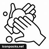 Washing Hands Icon Symbol Svg sketch template