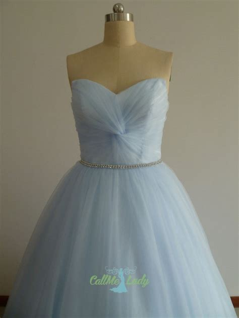 light sky blue beading long ball gown prom dress