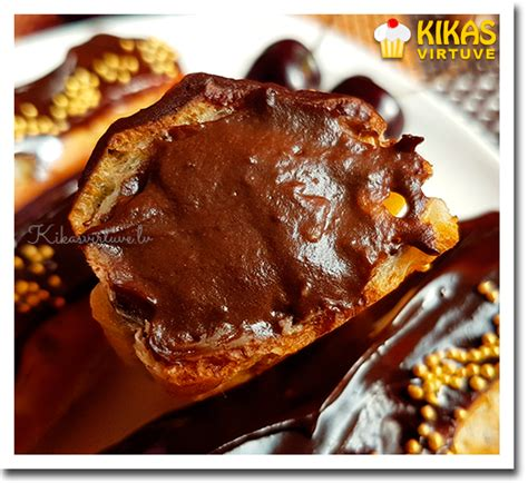 Kikas virtuve: Šokolādes eklēri