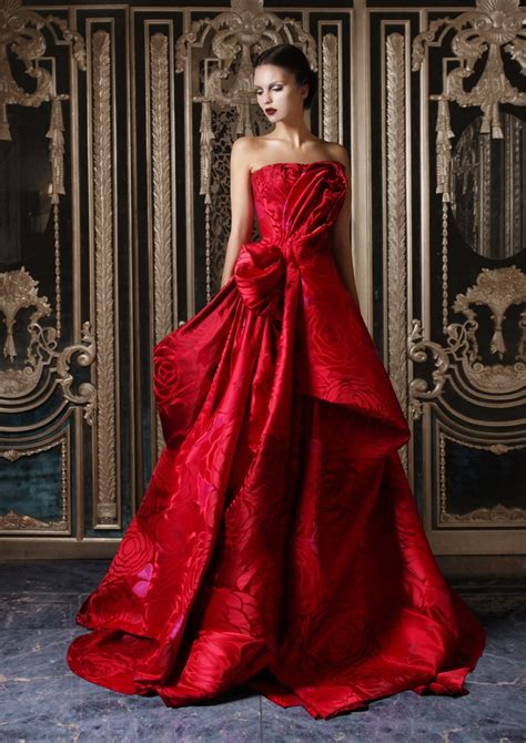red glamour evening gawn  christmas