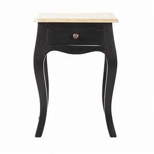 Maison Du Monde Chevet : table de chevet avec tiroir en manguier noir tables de chevet chevet et tiroir ~ Teatrodelosmanantiales.com Idées de Décoration