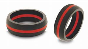 qalo firefighter wedding band rubber company and product With ems silicone wedding ring