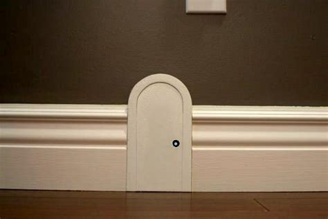 skirting board mouse door  toy garden