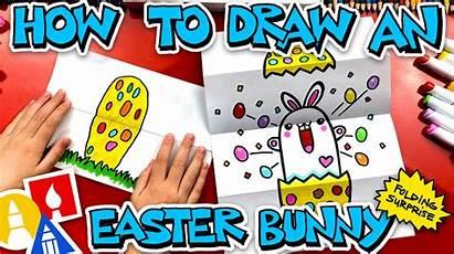 Draw Surprise Folding Easter Bunny Hub Artforkidshub