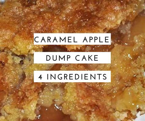 caramel apple dump cake recipe   ingredients