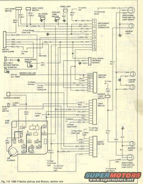 Ford Bronco Wiring Harnes Diagram by 1986 Ford Bronco Wiring Diagrams Picture Supermotors Net