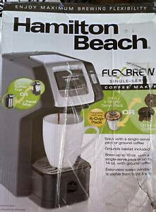 Enjoy fresh coffee at the touch of a button with the hamilton beach flexbrew single serve coffee maker. Hamilton Beach FlexBrew Single Serve Coffee Maker 49974 Used Excellent | eBay