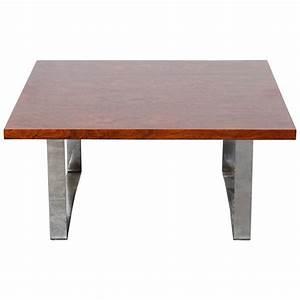 danish mid century modern square rosewood coffee table for With mid century modern square coffee table