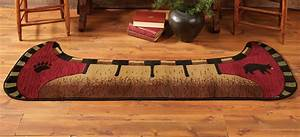 Bear Rugs Bear Canoe RugBlack Forest Decor