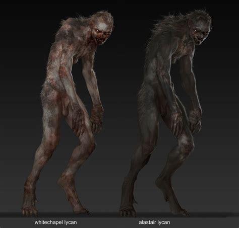 lycan sketch criaturas fantasticas licantropo arte de lobo