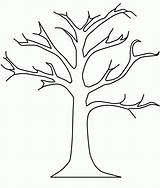Coloring Tree Fall Bare Pages Popular sketch template