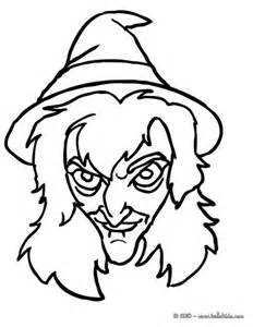 Scary Witch Faces Coloring Pages