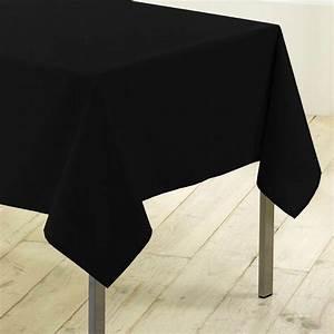 Nappe Table Rectangulaire : nappe rectangulaire l200 cm gamme essentiel noir nappe ~ Teatrodelosmanantiales.com Idées de Décoration