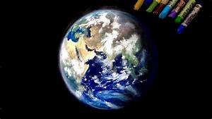 """Oil pastel painting """"The earth"""" by polka. - YouTube"""