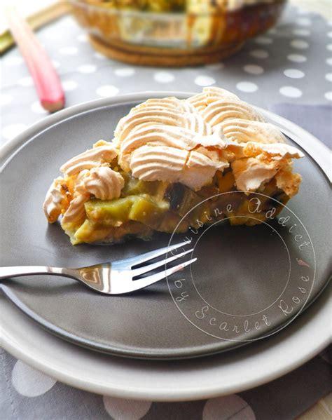 cuisine rhubarbe tarte à la rhubarbe meringuée alsacienne cuisine addict