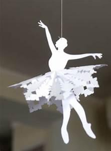 Paper Ballerina Snowflakes - Kids Kubby