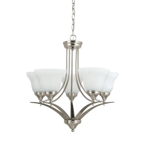 brushed nickel chandelier home decorators collection 5 light brushed nickel