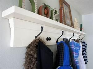 Custom, Made, Entryway, Coat, Rack, Shelf, By, Kellieshelves