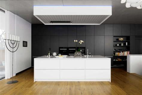 cuisine moderne en noir  blanc  idees magnifiques