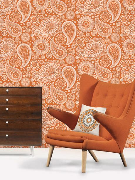 Bedroom Burnt Orange Wallpaper by Rainbow Bright For Your Home Home