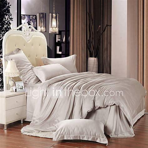 grey duvet cover king silver gray 100 tencel soft bedding sets king size