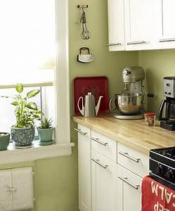 Green Kitchen White Cabinets Red Accents 39Sweet Carol