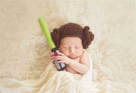 princess leia beanie newbornbabychild leia hat