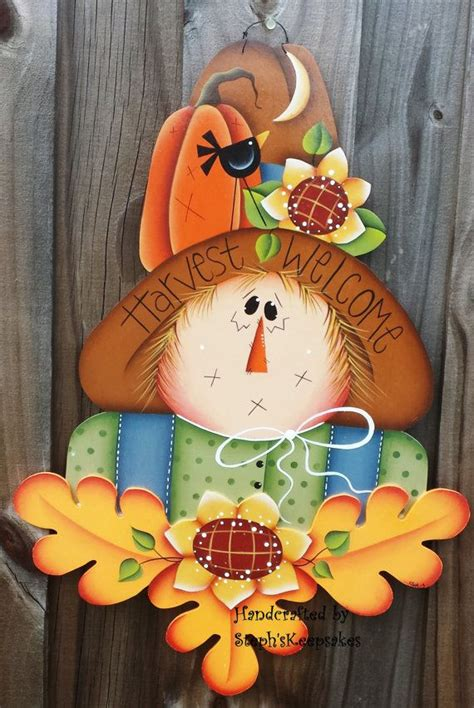 harvest  scarecrow wall hanging fall autumn