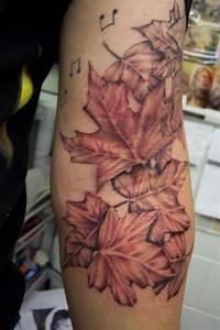 Sweet maple leaves tattoo - TattooMagz