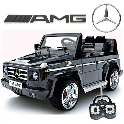 kid motorized car licensed black mercedes amg g55 g wagon luxury 12v jeep
