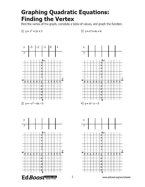 graphing linear equations using a table worksheet the best worksheets image collection