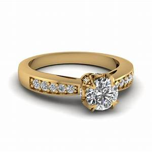 Women s yellow gold diamond rings wedding promise for Wedding gold rings for women