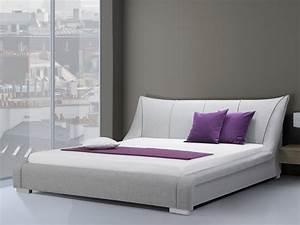 Lit 180x200 Design : lit design en tissu lit double 180x200 cm gris sommier inclus nantes ~ Teatrodelosmanantiales.com Idées de Décoration