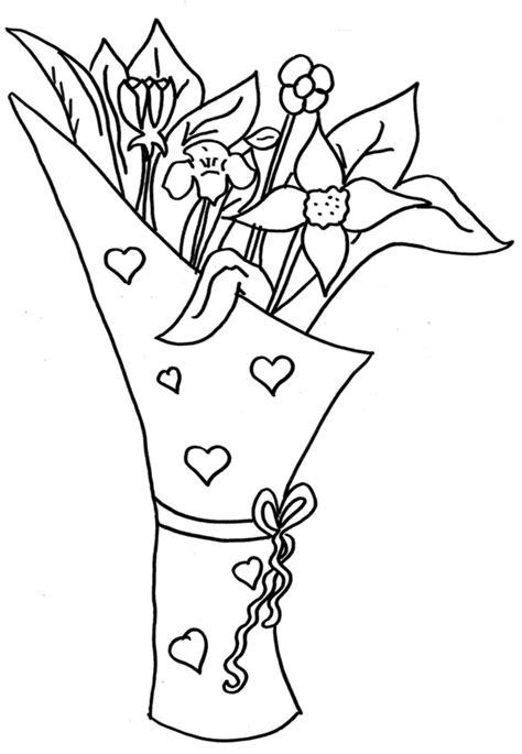 disegni di mazzi di fiori da colorare sta disegno di mazzo di fiori da colorare