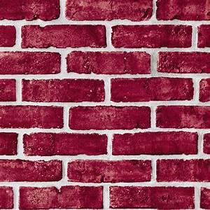 Violet Red Brick Self Adhesive Wallpapers