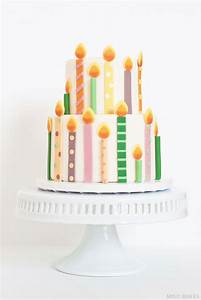Cute Birthday Cake With Candles ~ Image Inspiration of ...