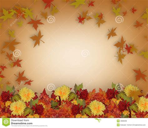 thanksgiving fall leaves  flowers border design royalty