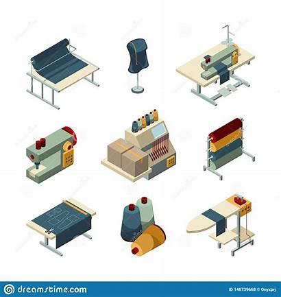 Textile Garment Production Manufacturing Vector Embroidery Sewing