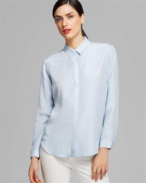 light blue blouse womens light blue blouse women 39 s long sleeved blouse