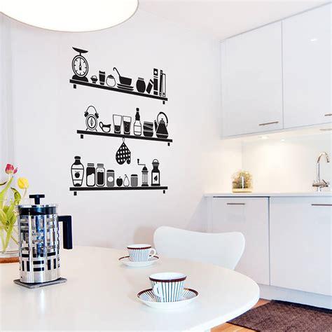 stickers pour cuisine scandinavian kitchen shelves wall sticker by sirface