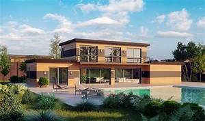 maison d architecte pas cher grande maison sur soussol With combien coute une terrasse en bois