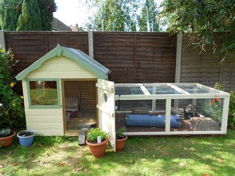 outdoor ideas  big rabbit hutch