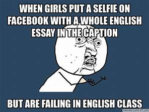 when girls put a selfie on facebook with a whole english ...