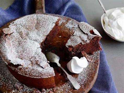 cracked chocolate earth  whipped cream flourless
